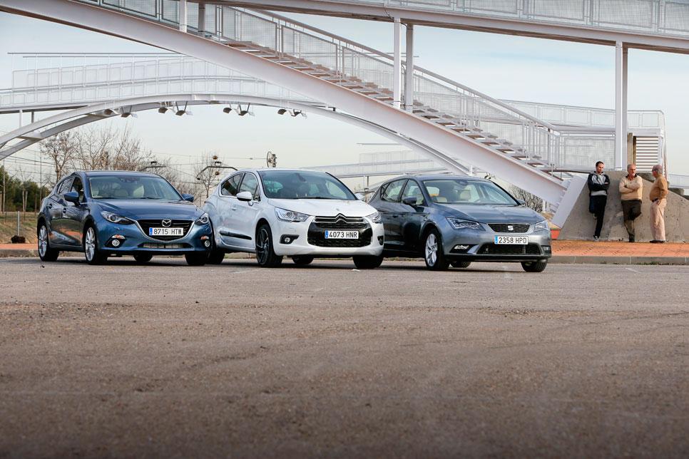 Comparativa: Citroën DS4 2.0 HDI Sport; Mazda 2 2.2D Luxury; Seat León 2.0 TDI Style