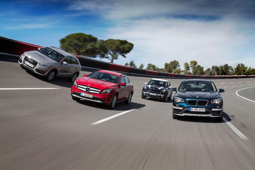 Audi Q3 TFSI vs BMW X1 sDrive 2.0i, Mercedes GLA 200 y Mini Countryman Cooper S