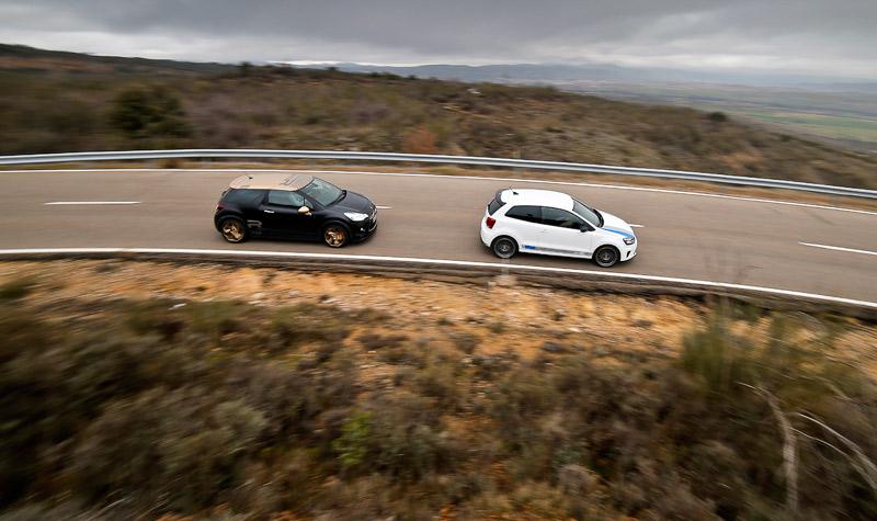 Citroën DS3 Racing Gold Mat vs Volkswagen Polo R WRC