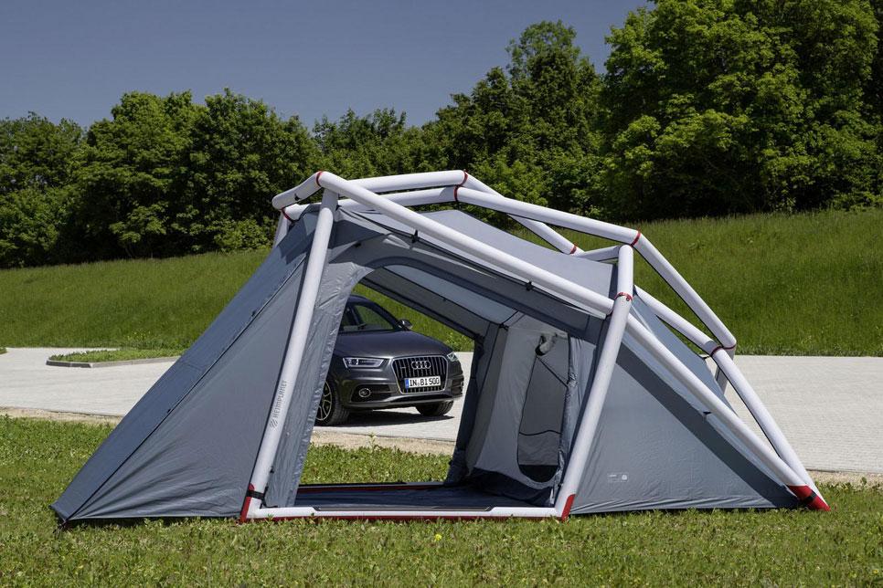 Audi Q3 Camping Tent, con la casa a cuestas