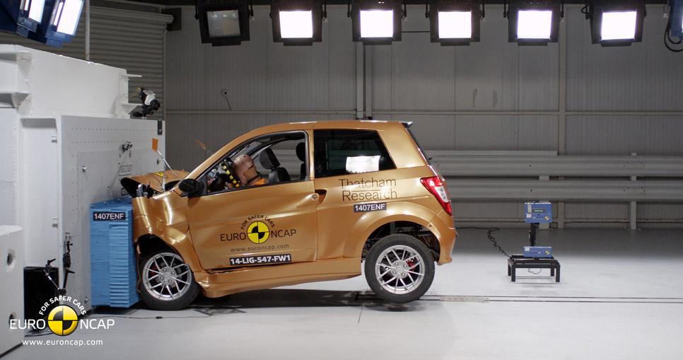 'Crash test' Euro NCAP a cuadriciclos