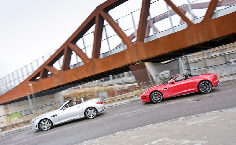 Comparativa: Mercedes SLK 55 AMG vs Jaguar F-Type 5.0 V8 S