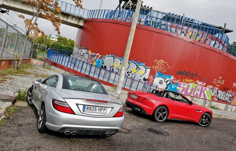 Comparativa: Mercedes SLK 55 AMG vs Jaguar F-Type 5.0 V8 S