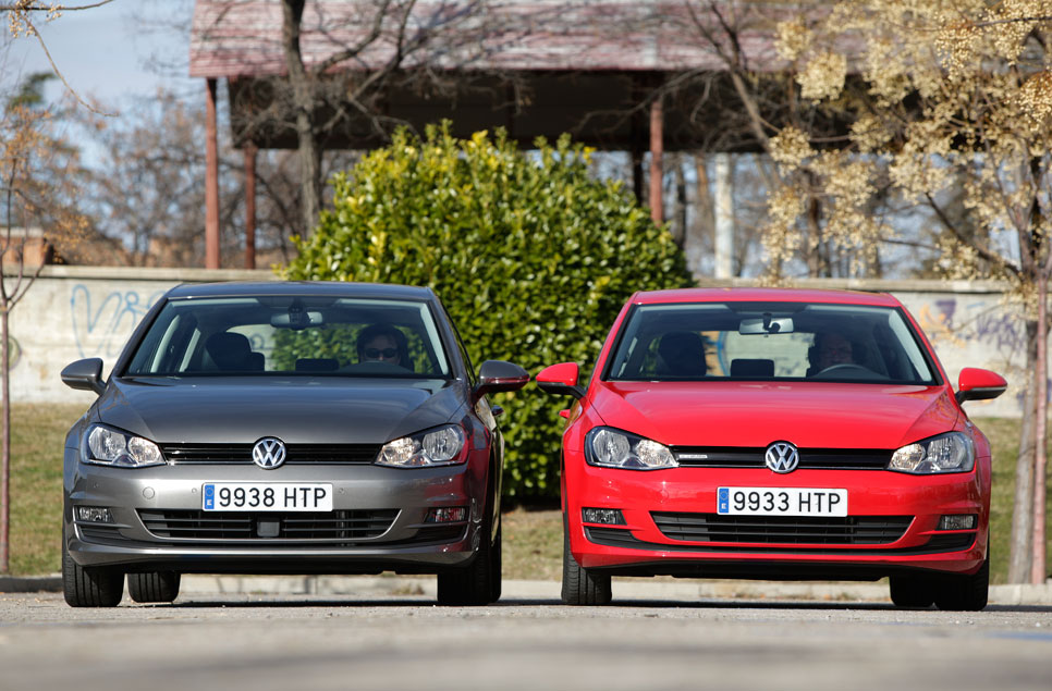 Comparativa: VW Golf 1.6 TDI DSG7 vs VW Golf 1.6 TDI y VW Golf Bluemotion