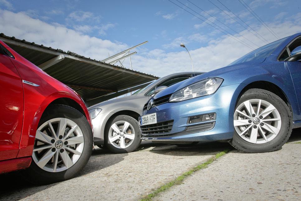 Comparativa: VW Golf 1.6 TDI DSG7 vs VW Golf 1.6 TDI y VW Golf Bluemotion