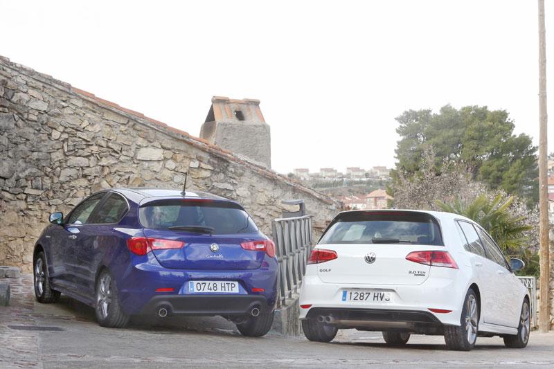 Alfa Romeo Giulietta 2.0 JTDM  contra Volkswagen Golf 2.0 TDI