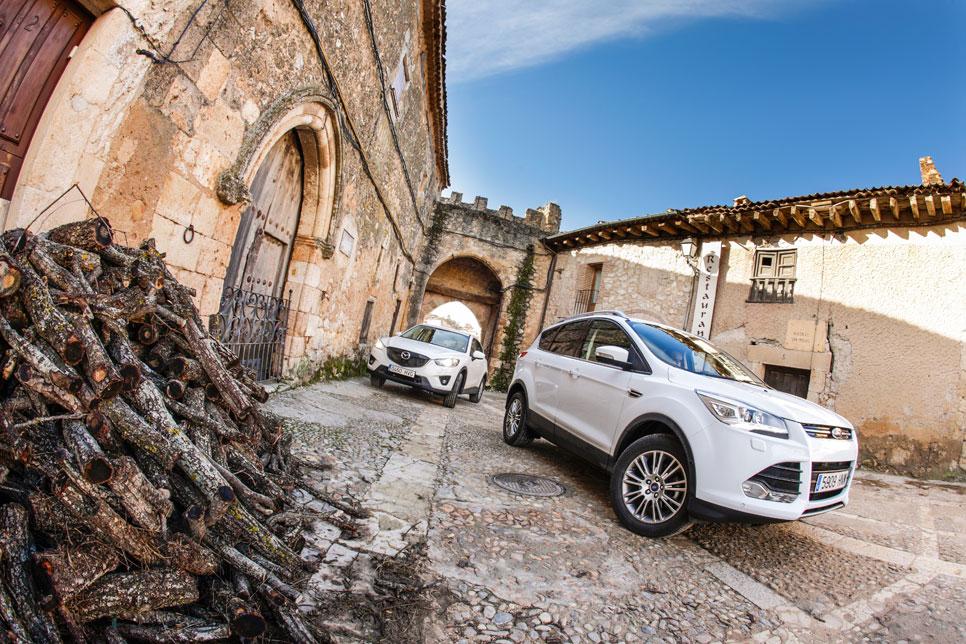 Comparativa: Ford Kuga 1.6 EcoBoost 4x2 vs Mazda CX-5 2.0 165 2WD