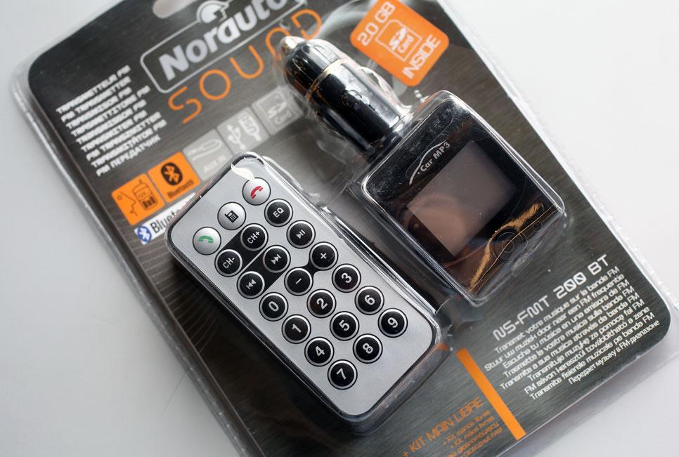 Transmisor de FM con bluetooth