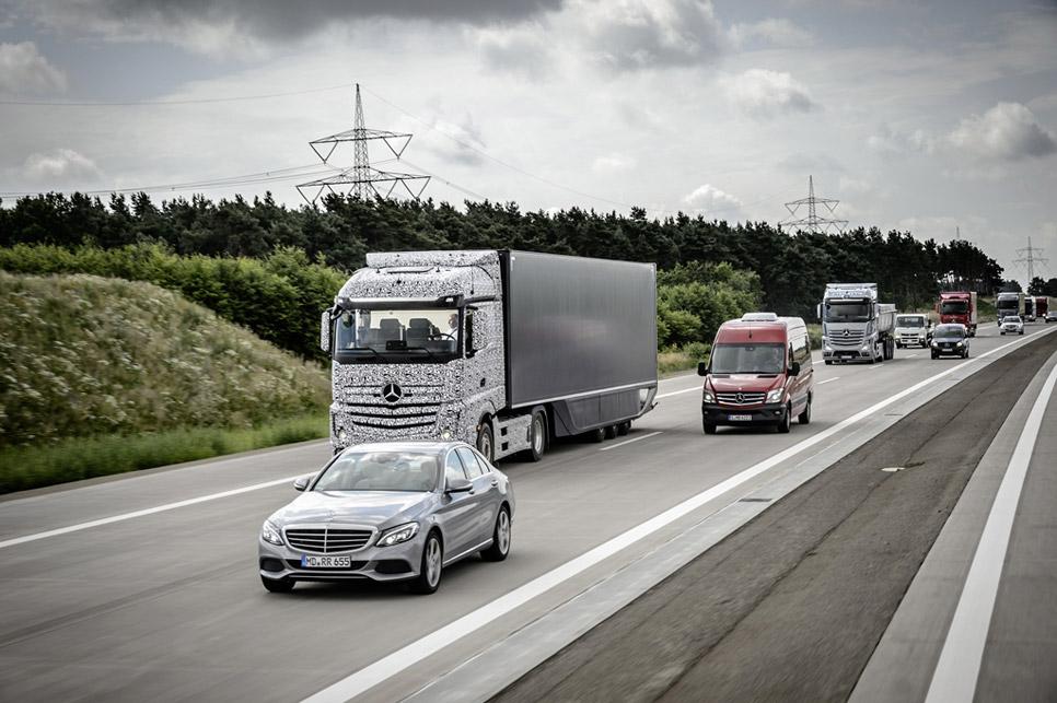 El camión autónomo de Mercedes