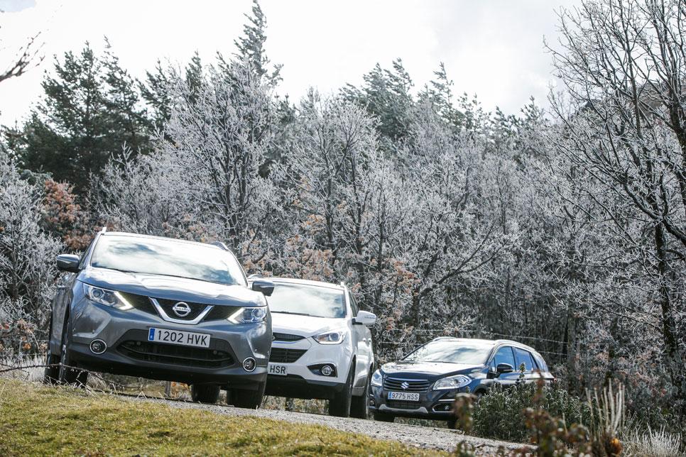 Comparativa: Hyundai ix35 2.0 CRDI 136 4x2 vs Nissan Qashqai 1.6 DCI 130 4x2 S/S y Suzuki S-Cross 1.6 DDIS 120 2WD