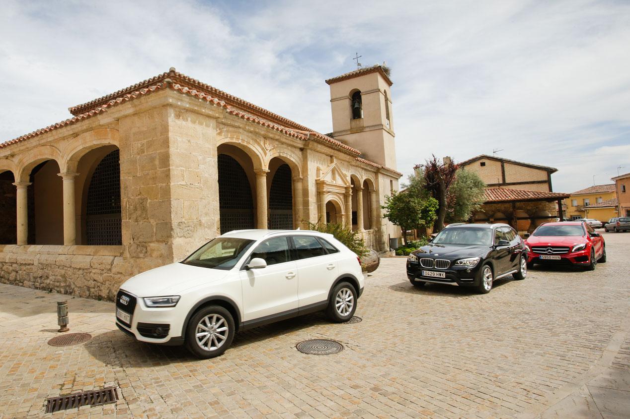 Comparativa: Audi Q3 2.0 TDI quattro S Tronic vs BMW X1 Xdrive 2.0d Steptronic y Mercedes GLA 220 CDI 4M 7G-DCT