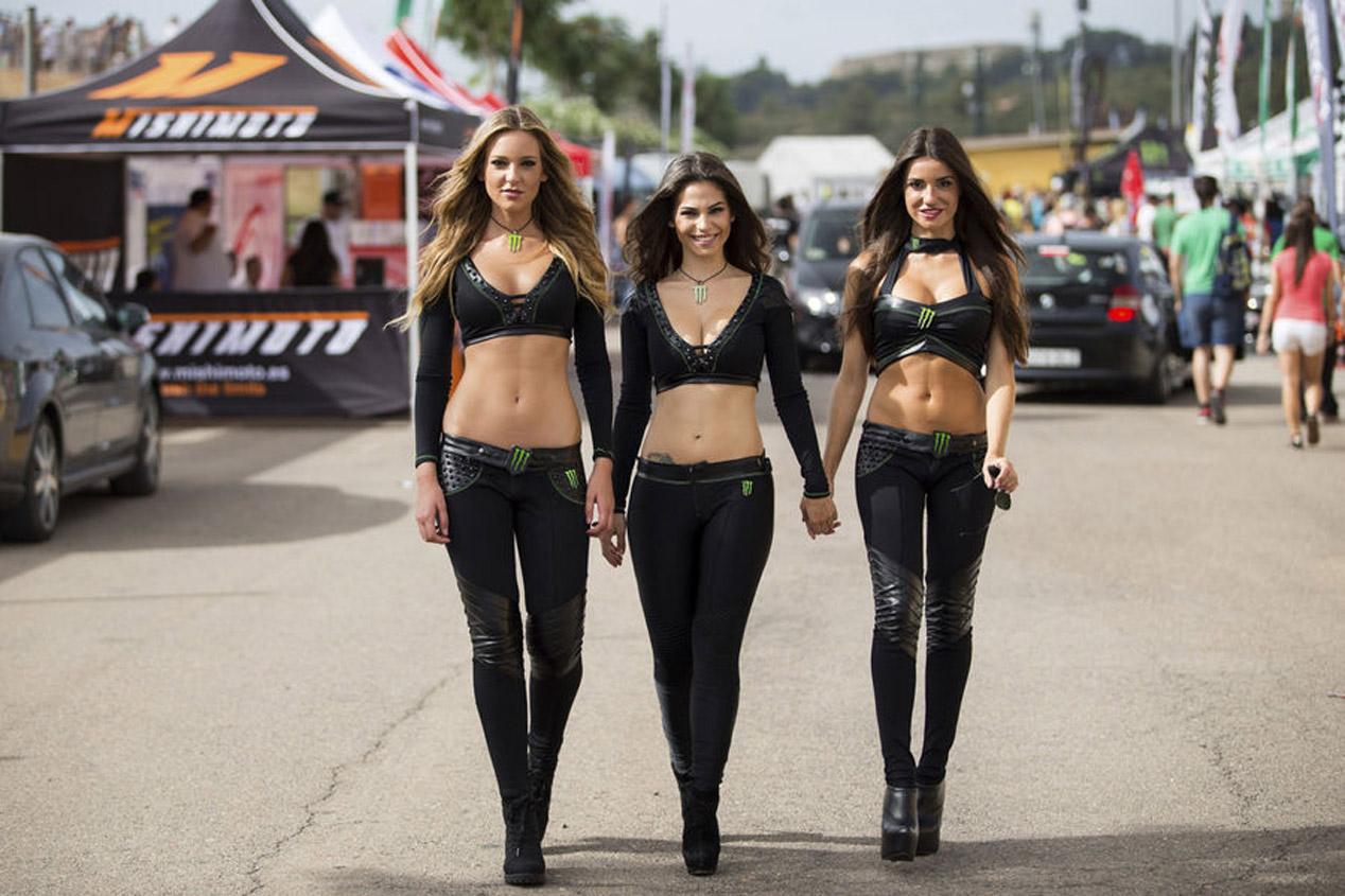 Las chicas más espectaculares de Monster en las carreras