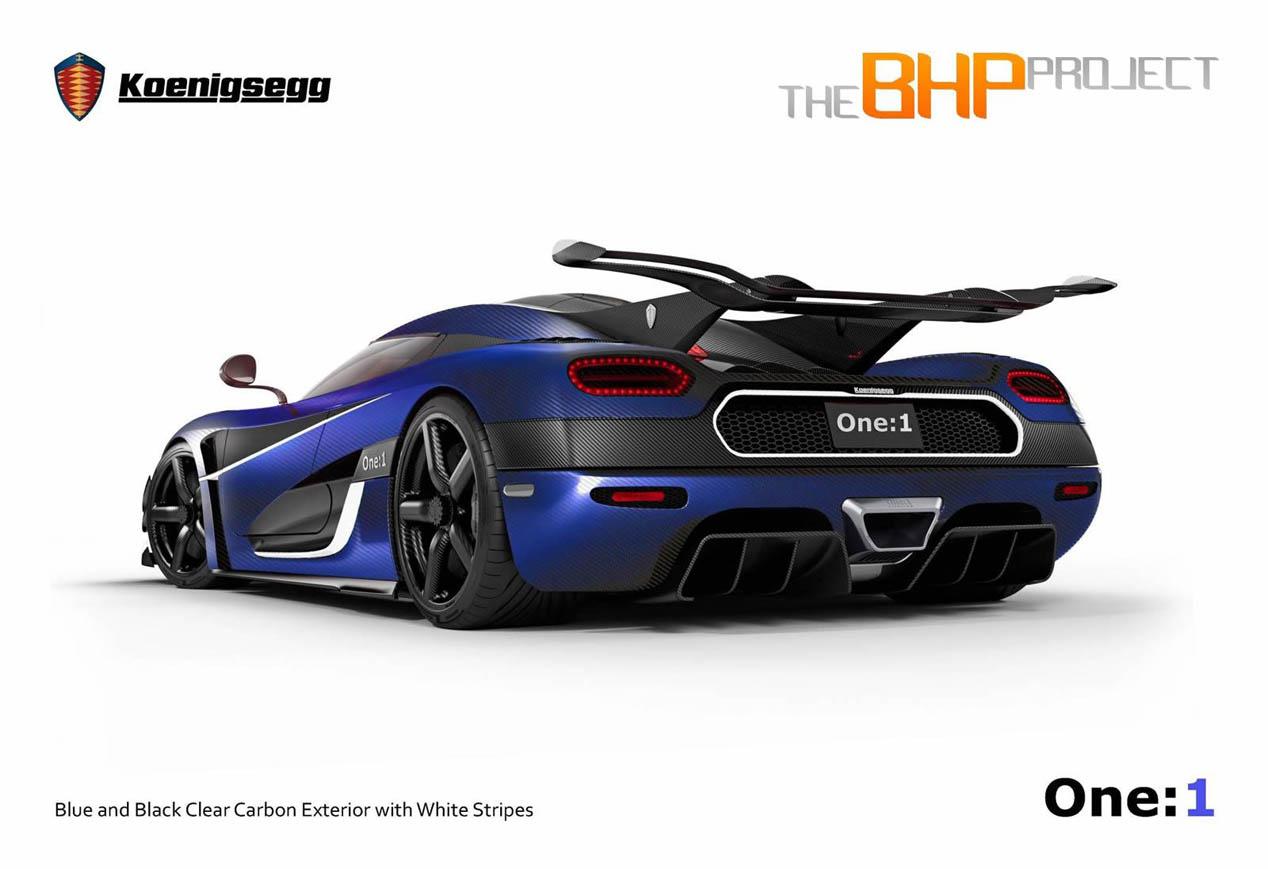 Koenigsegg One:1 BHP Project, con el volante a la derecha