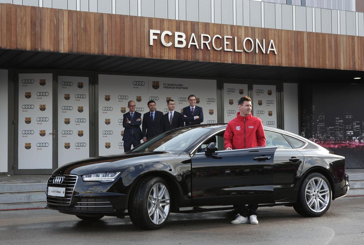 Los jugadores del Barça ya tienen sus Audi | Autopista.es