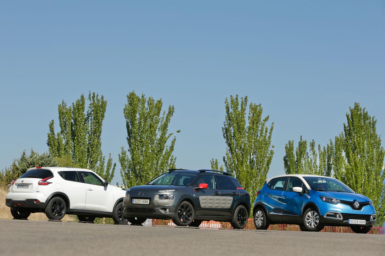 Citroën C4 Cactus 1.6 BlueHDI vs Nissan Juke 1.5 dCi y Renault Captur 1.5 dCi