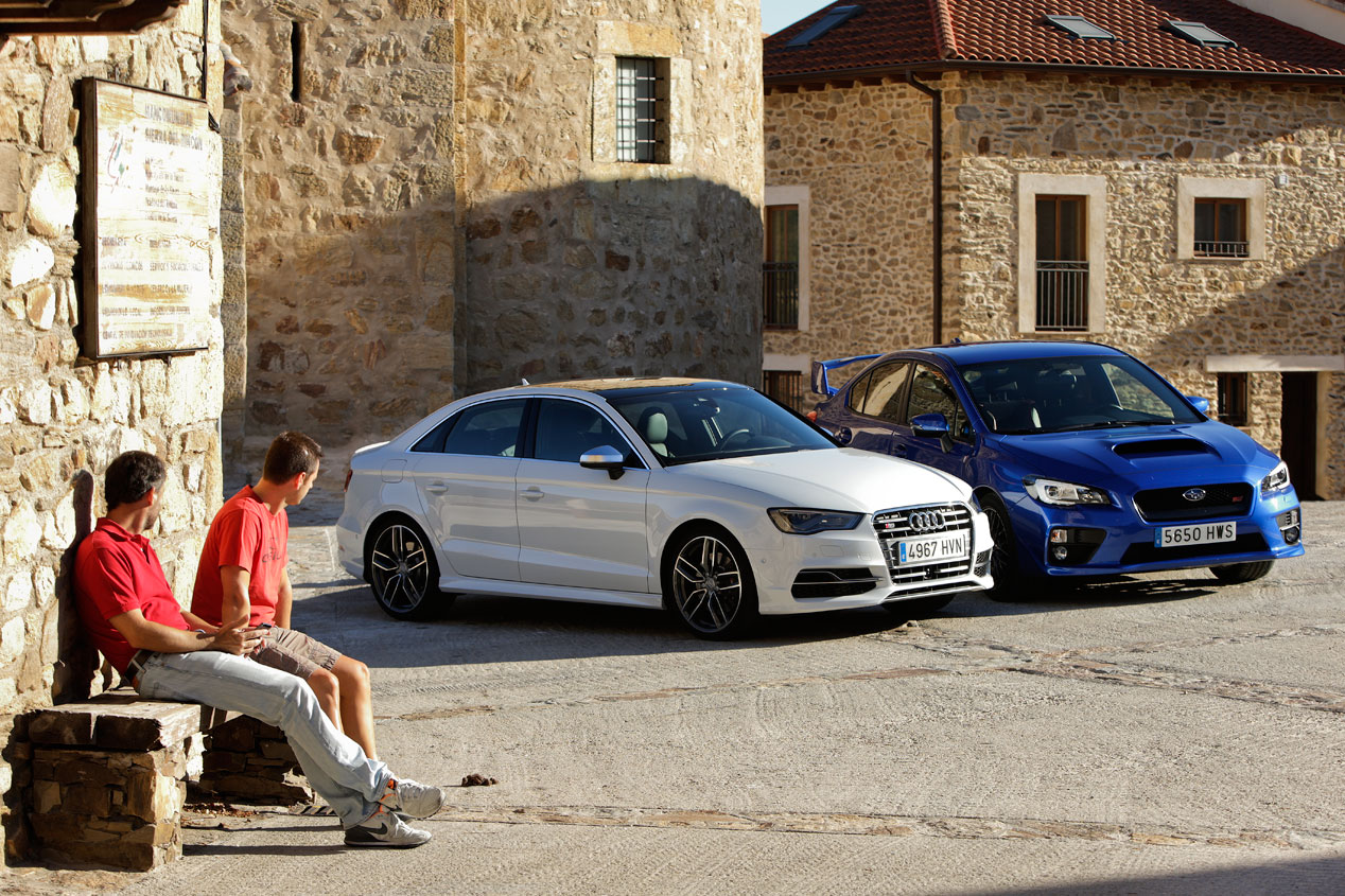 Audi S3 Sedán S-tronic contra Subaru WRX STi