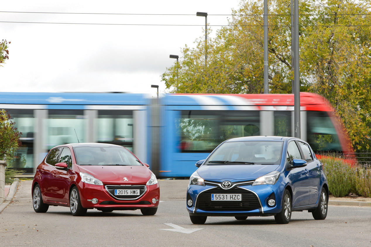 Comparativa: Peugeot 208 1.6 e-HDi vs Toyota Yaris 1.4 D-4D