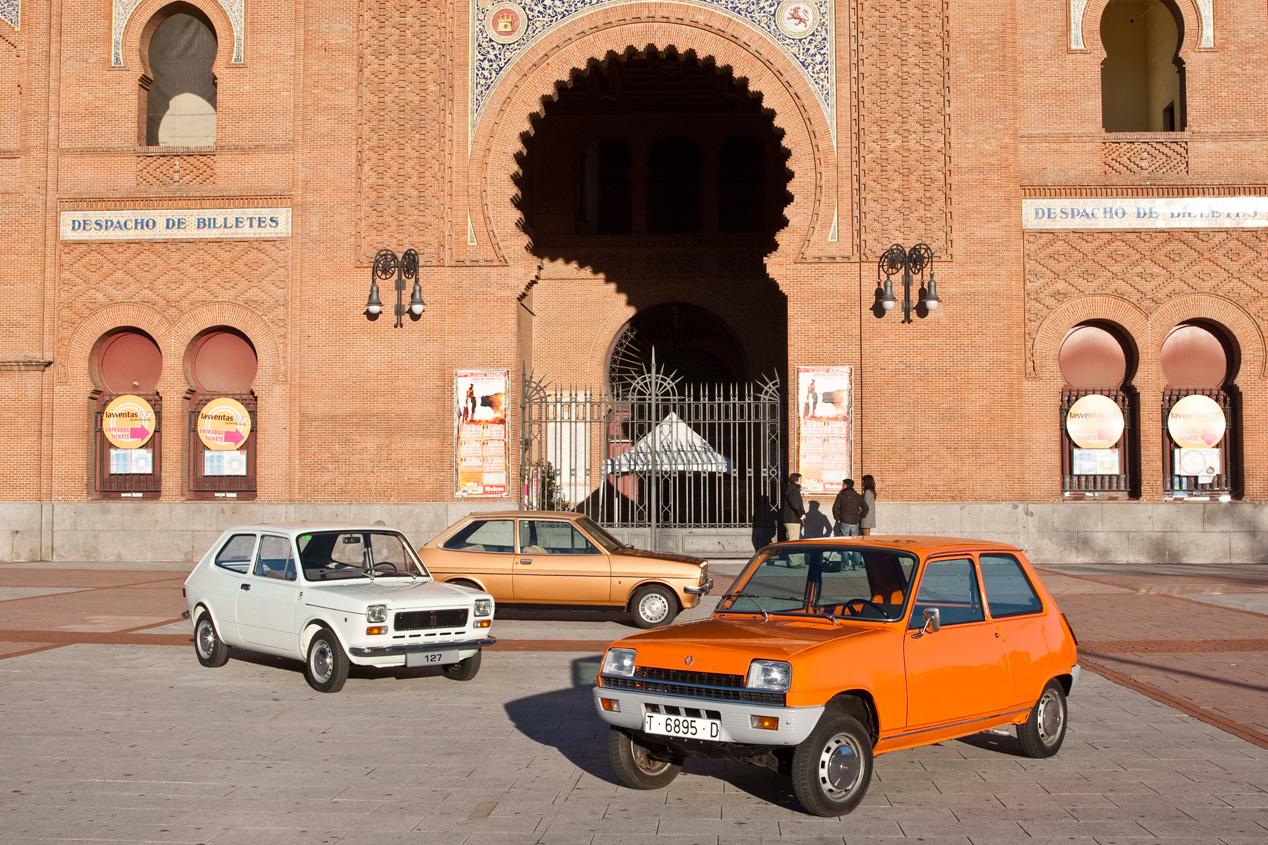 Seat 127, Renault 5 y Ford Fiesta: sensacional cartel