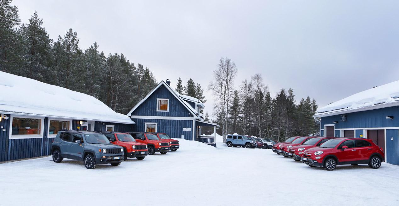Fiat 500X y Jeep Renegade, prueba en nieve y hielo