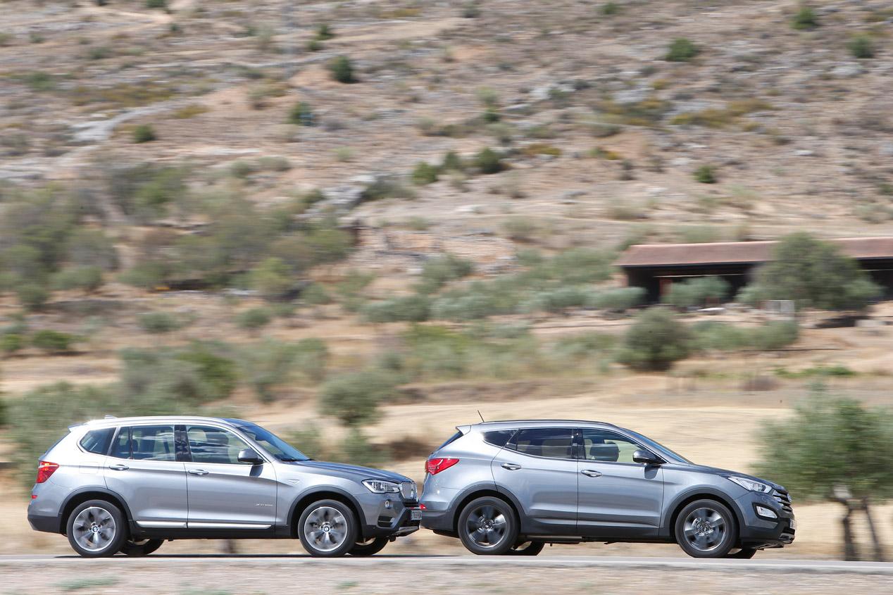 BMW X3 xDrive20d vs Hyundai Santa Fe 2.2 CRDi 4x4