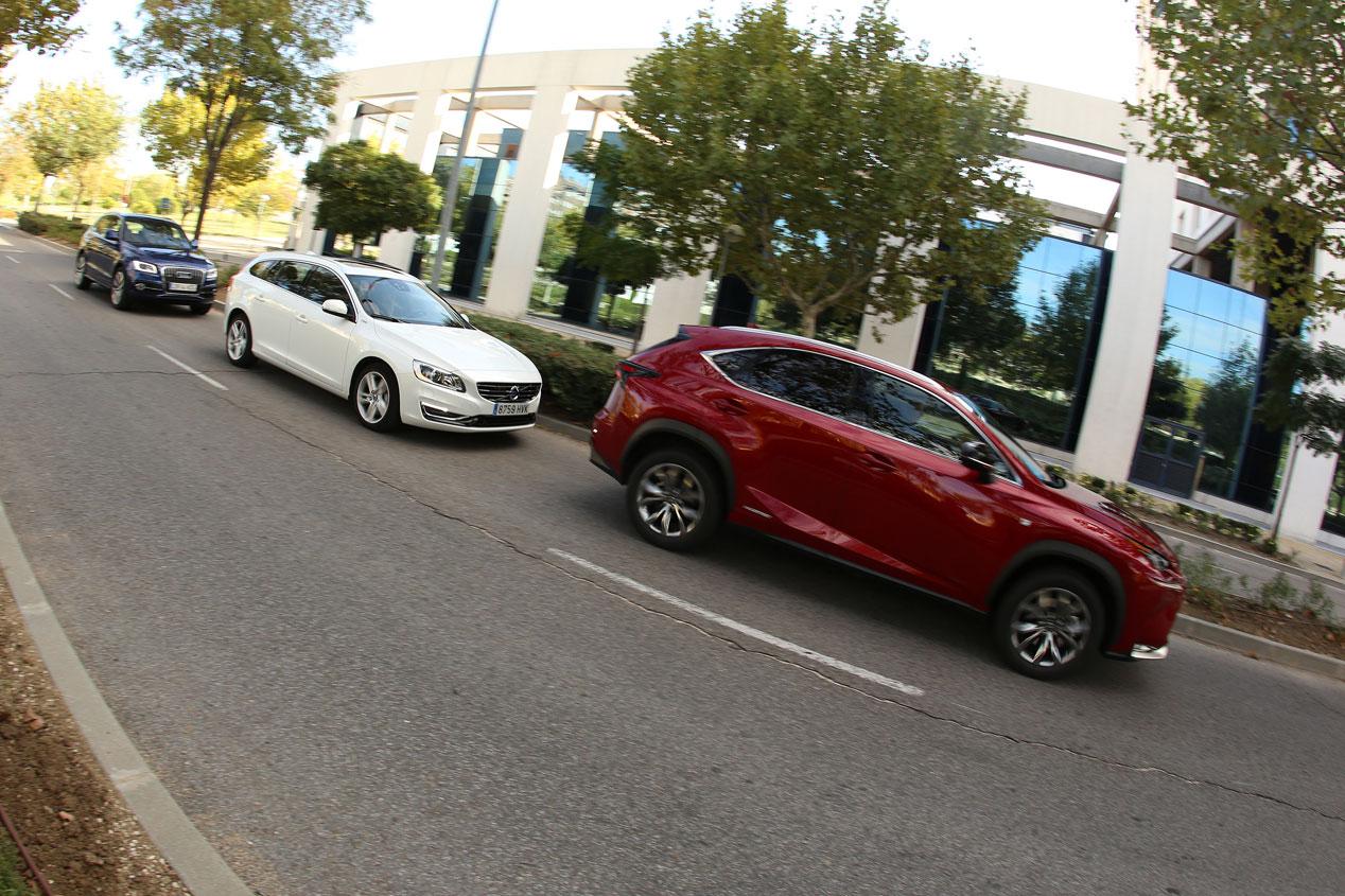 Comparativa: Audi Q5 Hybrid & Lexus NX 300h & Volvo V60 Plug-in Hybrid