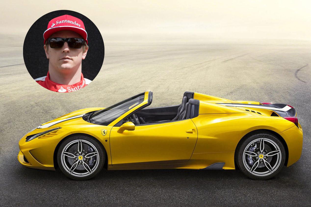 Kimi Räikkönen: Ferrari 458 Speciale Aperta