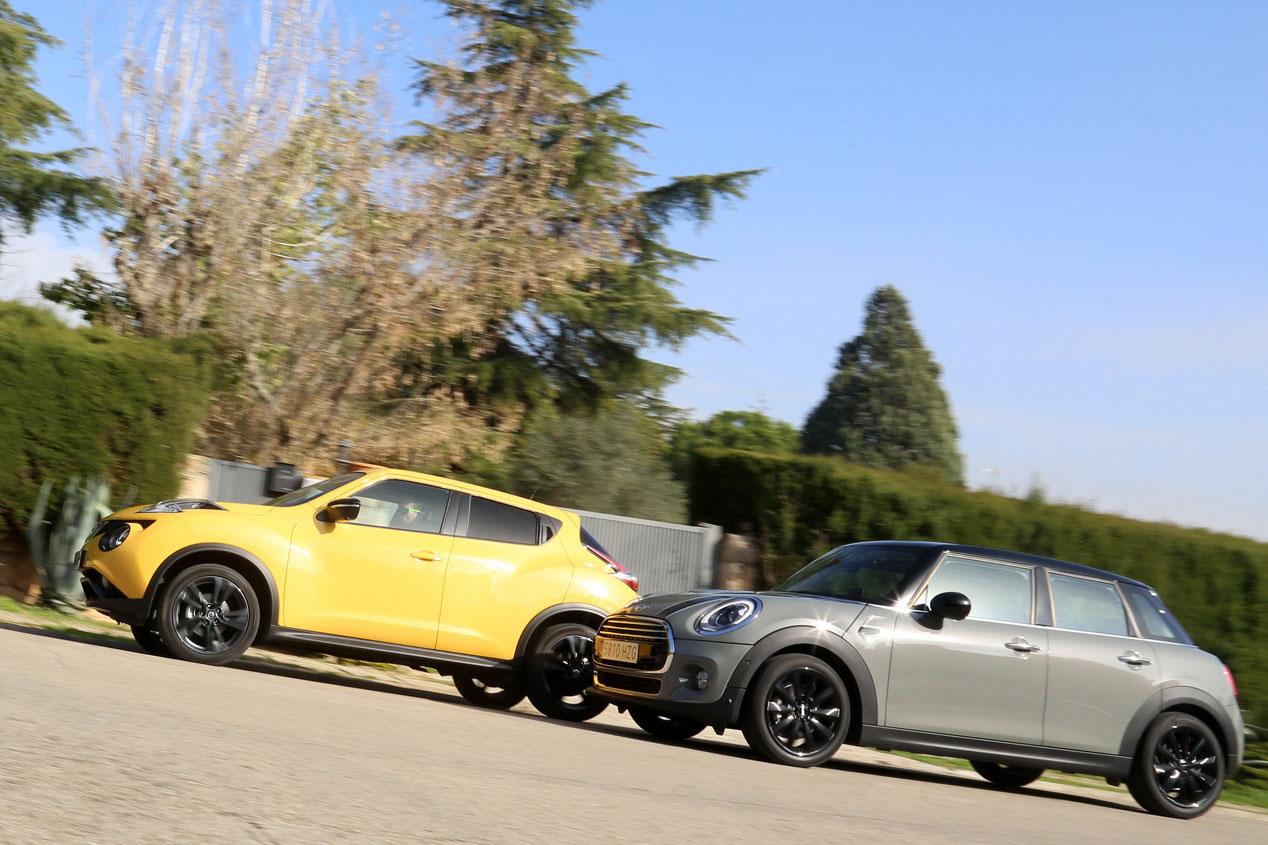 Comparativa: Mini Cooper D 5 p vs Nissan Juke 1.5 DCI 4x2