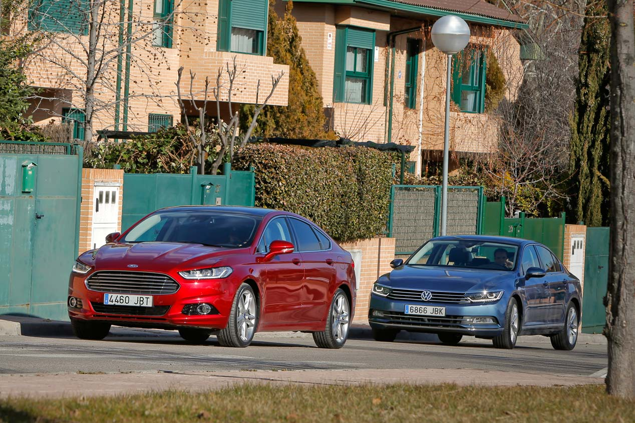 Comparativa: Ford Mondeo 2.0 TDCi vs VW Passat 2.0 TDI DSG