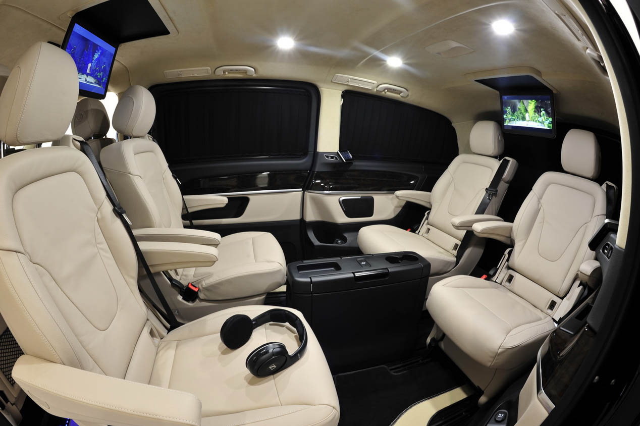 Brabus mercedes clase v lujo de gran formato novedades for Interior mercedes clase a