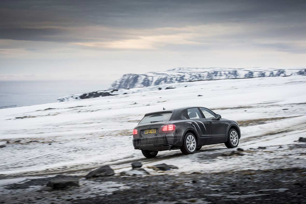 Primera prueba: Bentley Bentayga, en el infierno del Cabo Norte