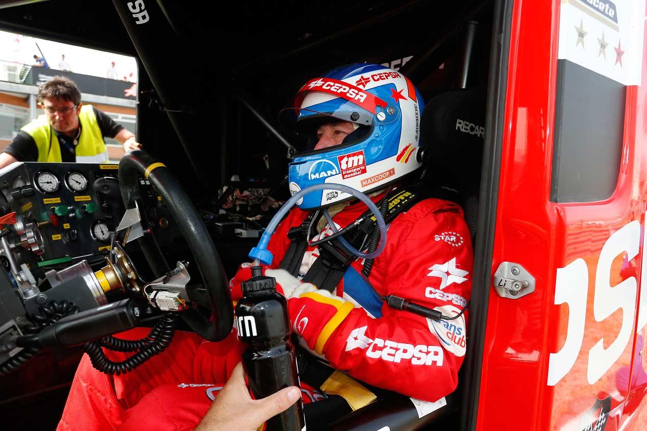 El camión de Antonio Albacete contra Audi RS7 Sportback