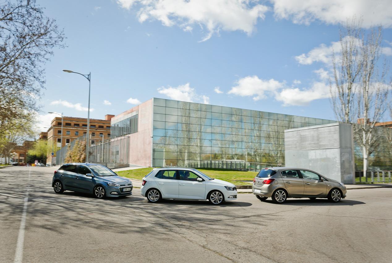 Hyundai i20 contra Opel Corsa 1.3 CDTi y Skoda Fabia 1.4 TDi
