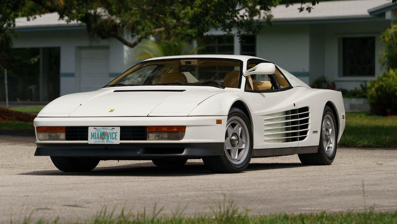 El Ferrari Testarossa de Miami Vice, a subasta