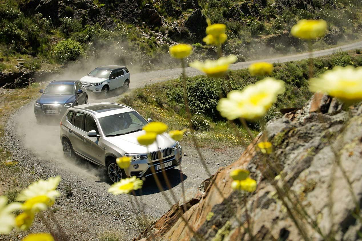 Audi Q5 2.0 TDI Quattro S Tronic vs BMW X3 xDrive 20D Aut. y Land Rover Discovery Sport 2.2 SD4 4x4 Aut.