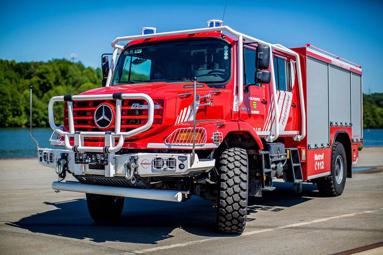 Mercedes Zetros, preparado para combatir los incendios