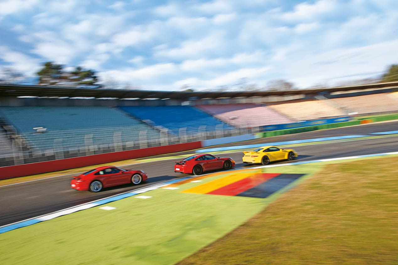 Comparativa: Porsche 911 Carrera S, 911 Carrera GTS y 911 GT3. ¿Cuál es el mejor?