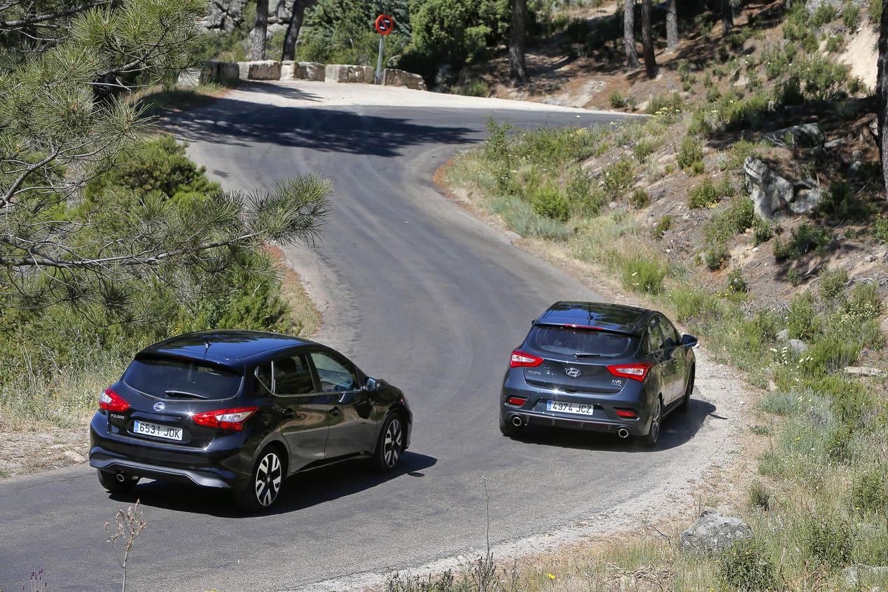Comparativa: Hyundai i30 1.6 TGDi Turbo contra Nissan Pulsar 1.6 DIG-T, ¿verdaderos GTI?