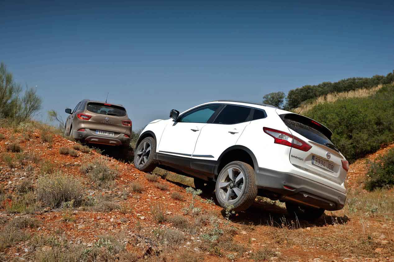 Nissan Qashqai dCi 130 4x4i 360 contra Renault Kadjar dCi 130 4x4 X Mod, las mejores fotos