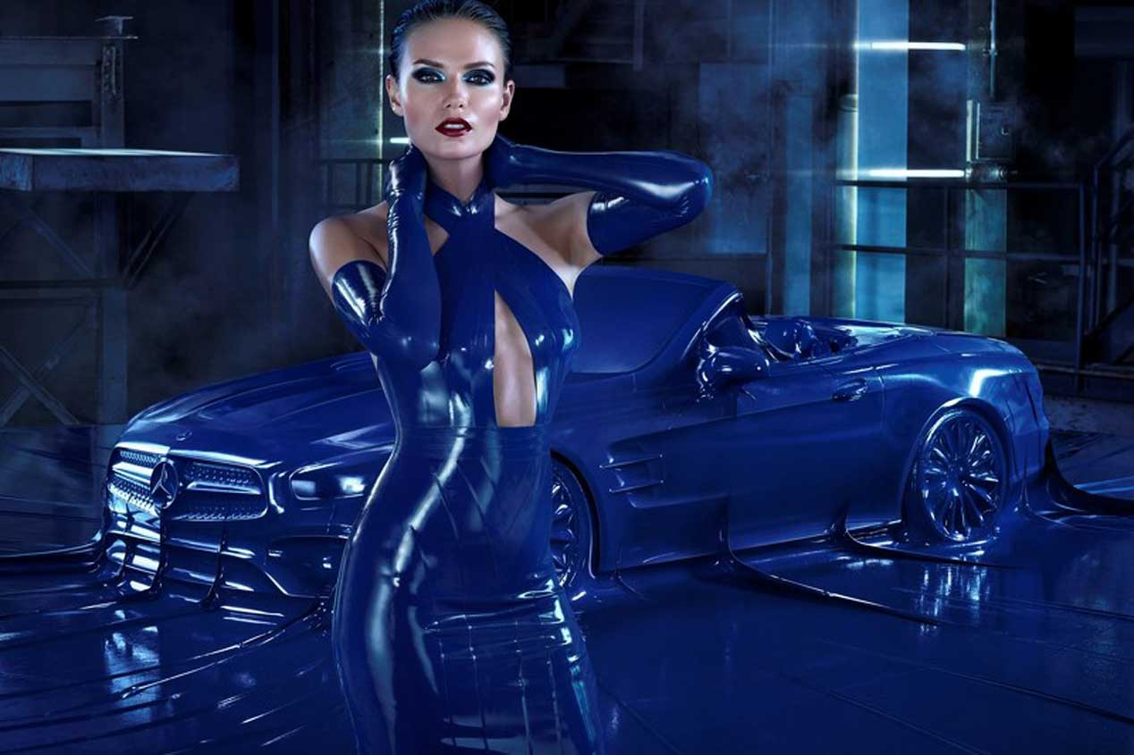 El Mercedes SL 2016 se viste de latex