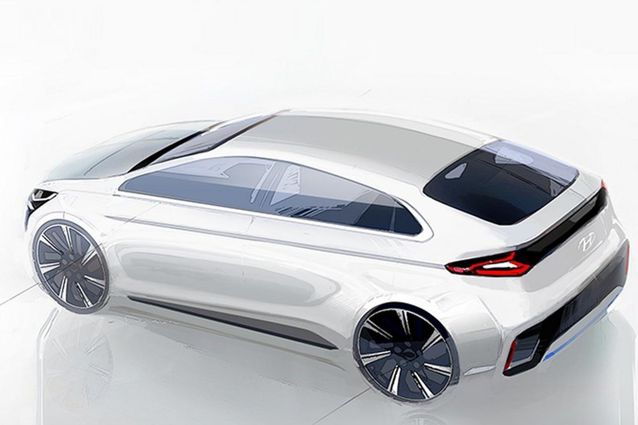 Hyundai IONIQ, las fotos de este coche híbrido
