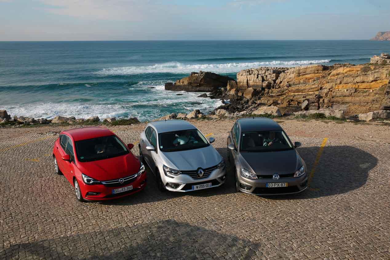 Fotos comparativa Renault Megane, Opel Astra y VW Golf