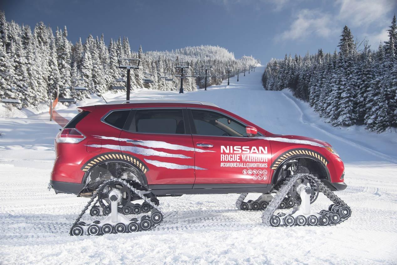 Nissan Rogue Warrior Concept, tracción a las cuatro orugas