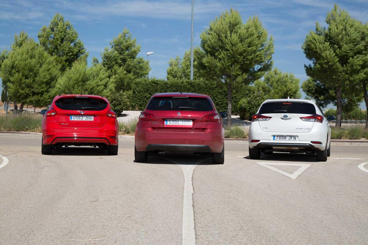 Ford Focus 1.5 TDCi/120, Peugeot 308 1.2 Pure Tech/130 y Toyota Auris Hybrid