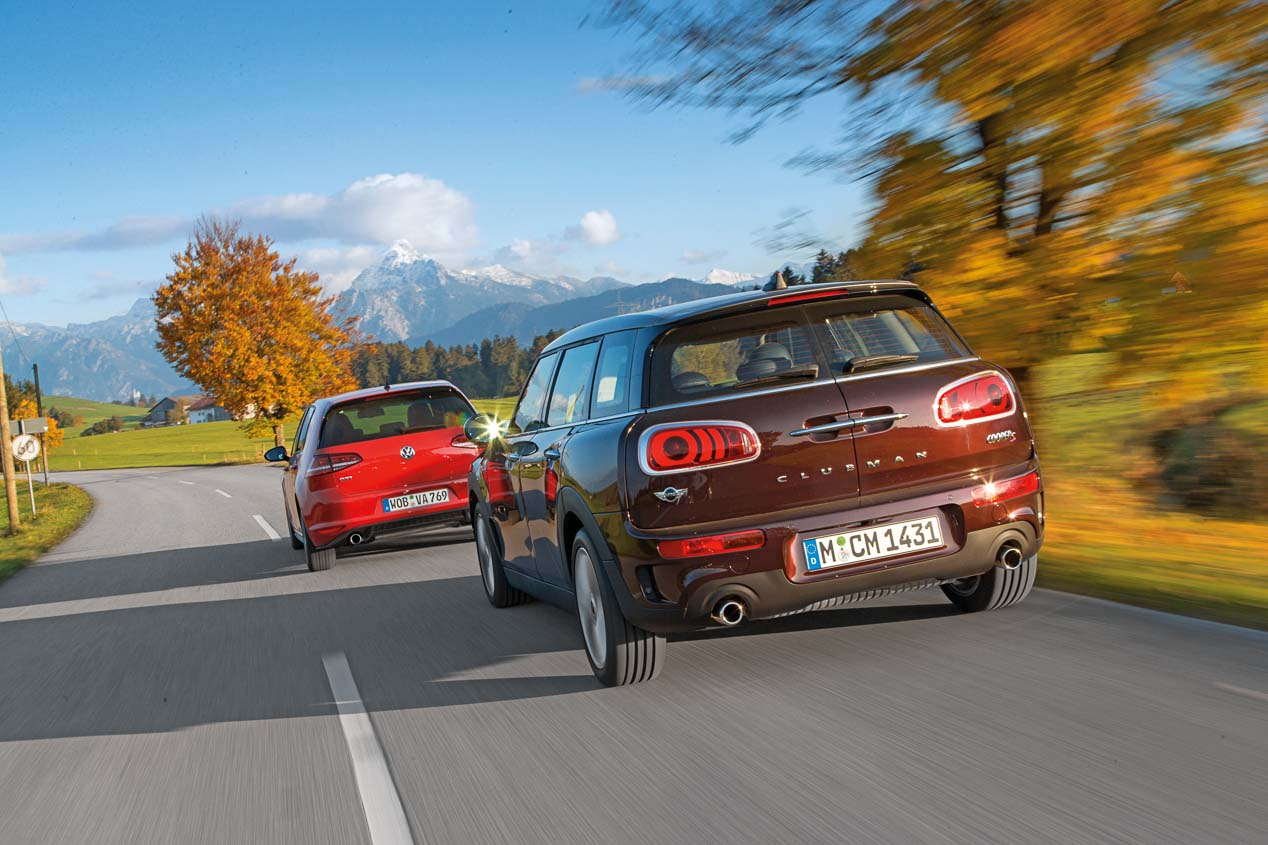 VW Golf GTI y Mini Clubman Cooper S