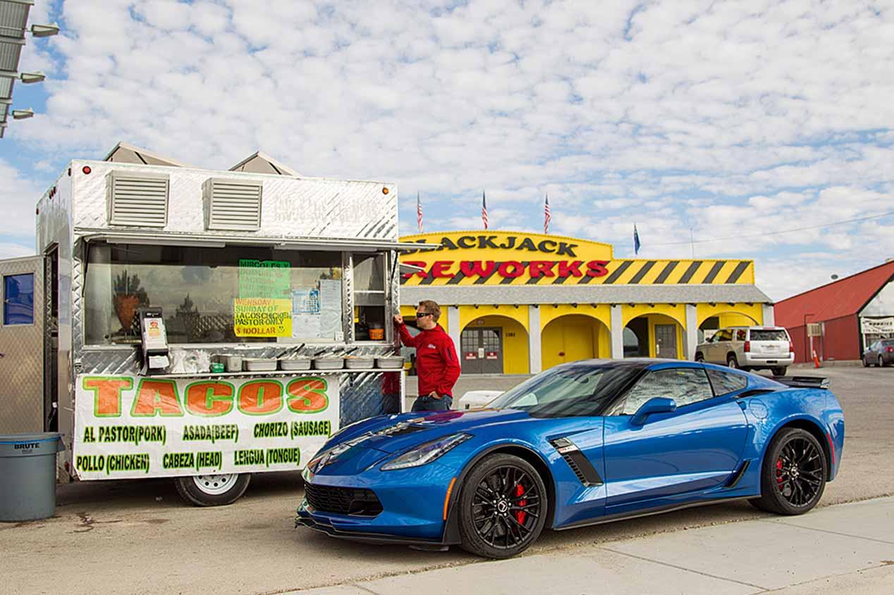 Chevrolet Corvette Z06: ruta por Nevada y California