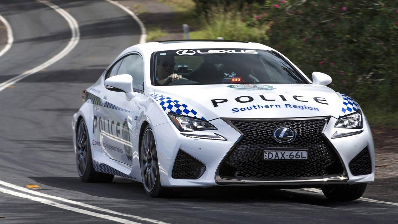 El nuevo fichaje de la policía australiana, un Lexus RC F