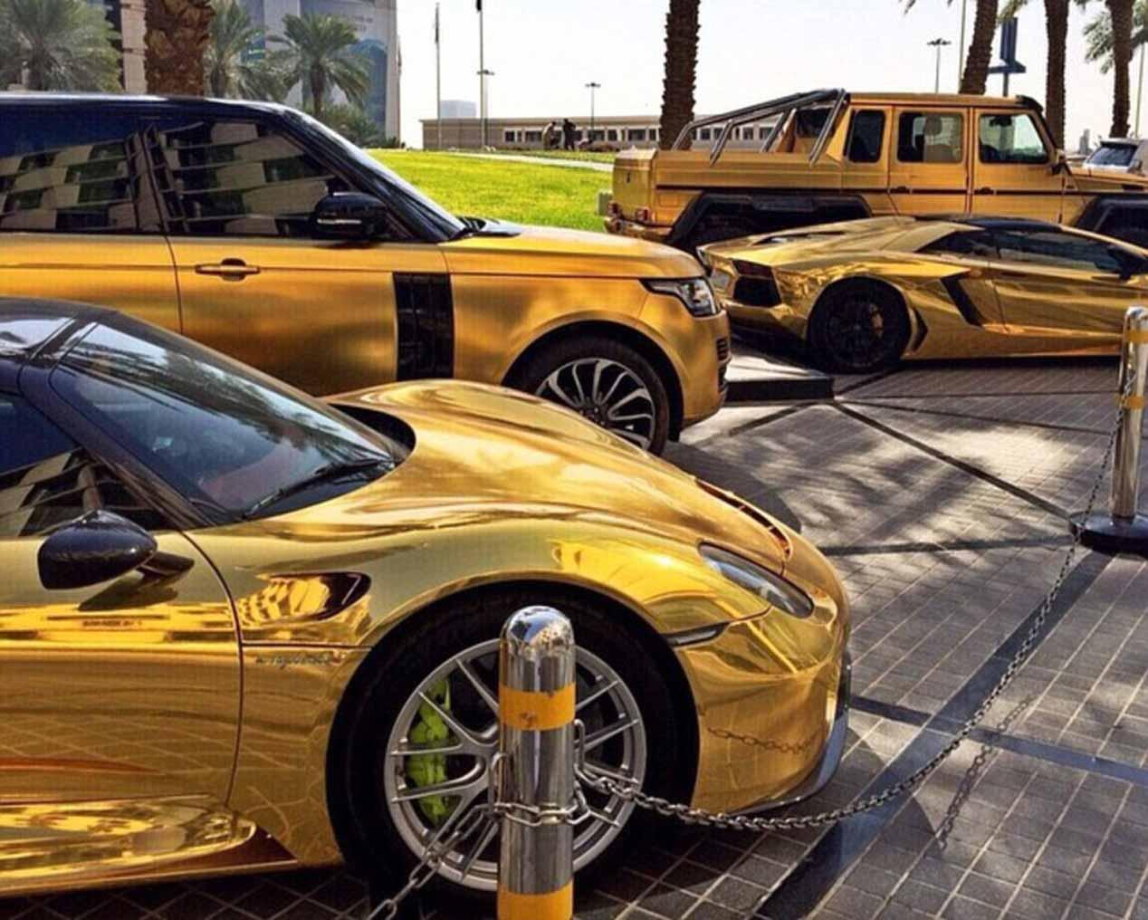 Los coches de oro del multimillonario Turki bin Abdullah