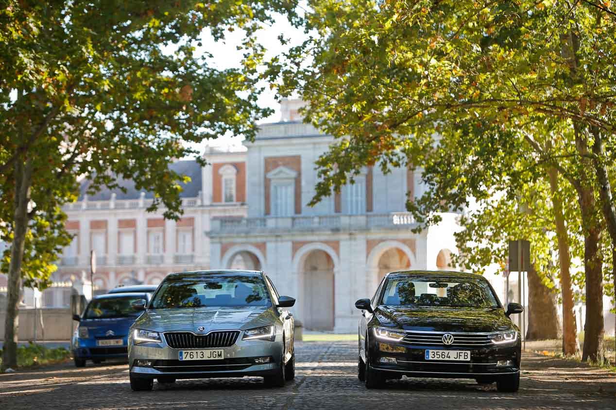 Skoda Superb y VW Passat 2.0 TDI 150, consanguinidad
