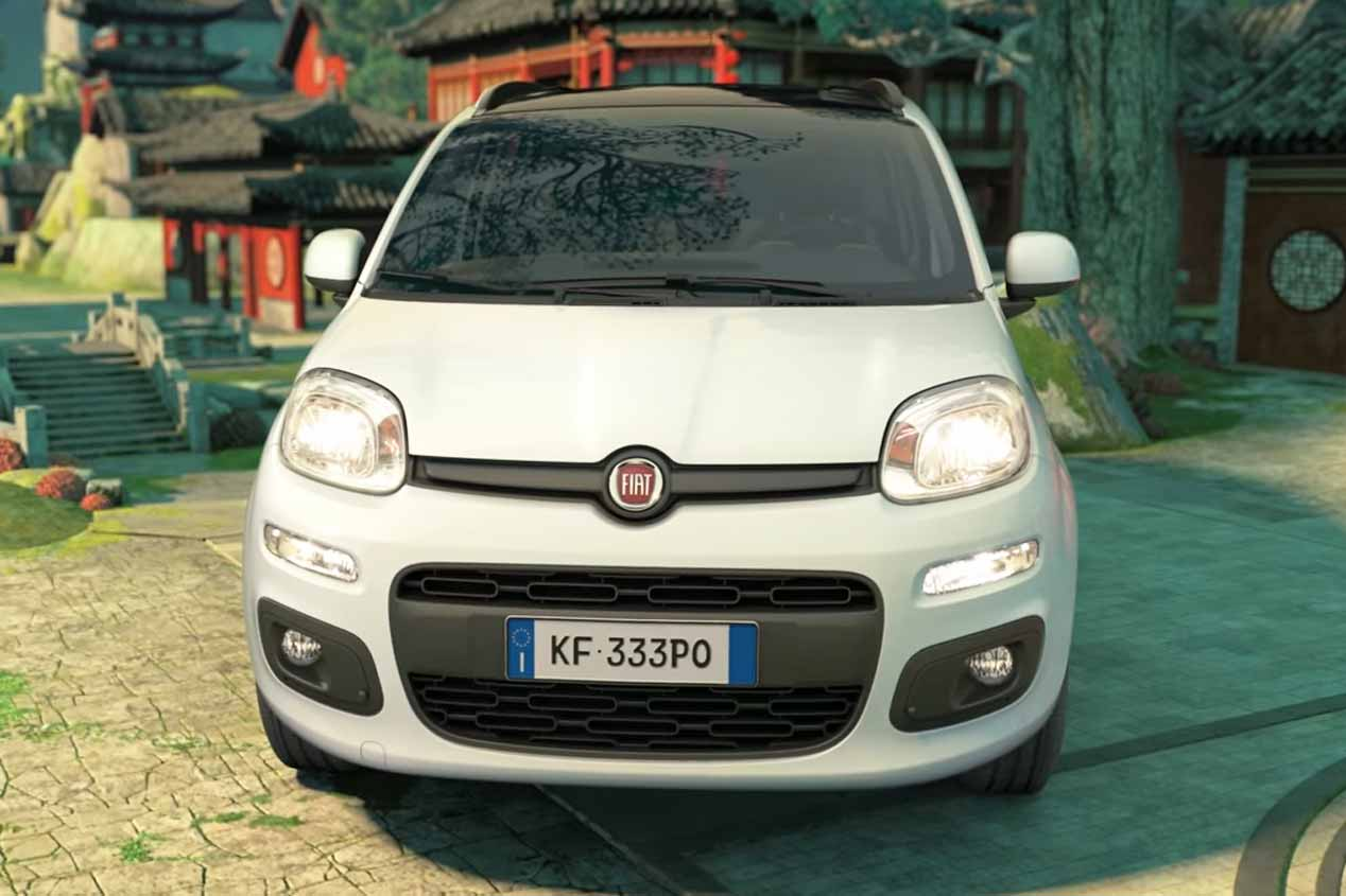 Fiat Panda y los osos de Kung Fu Panda 3