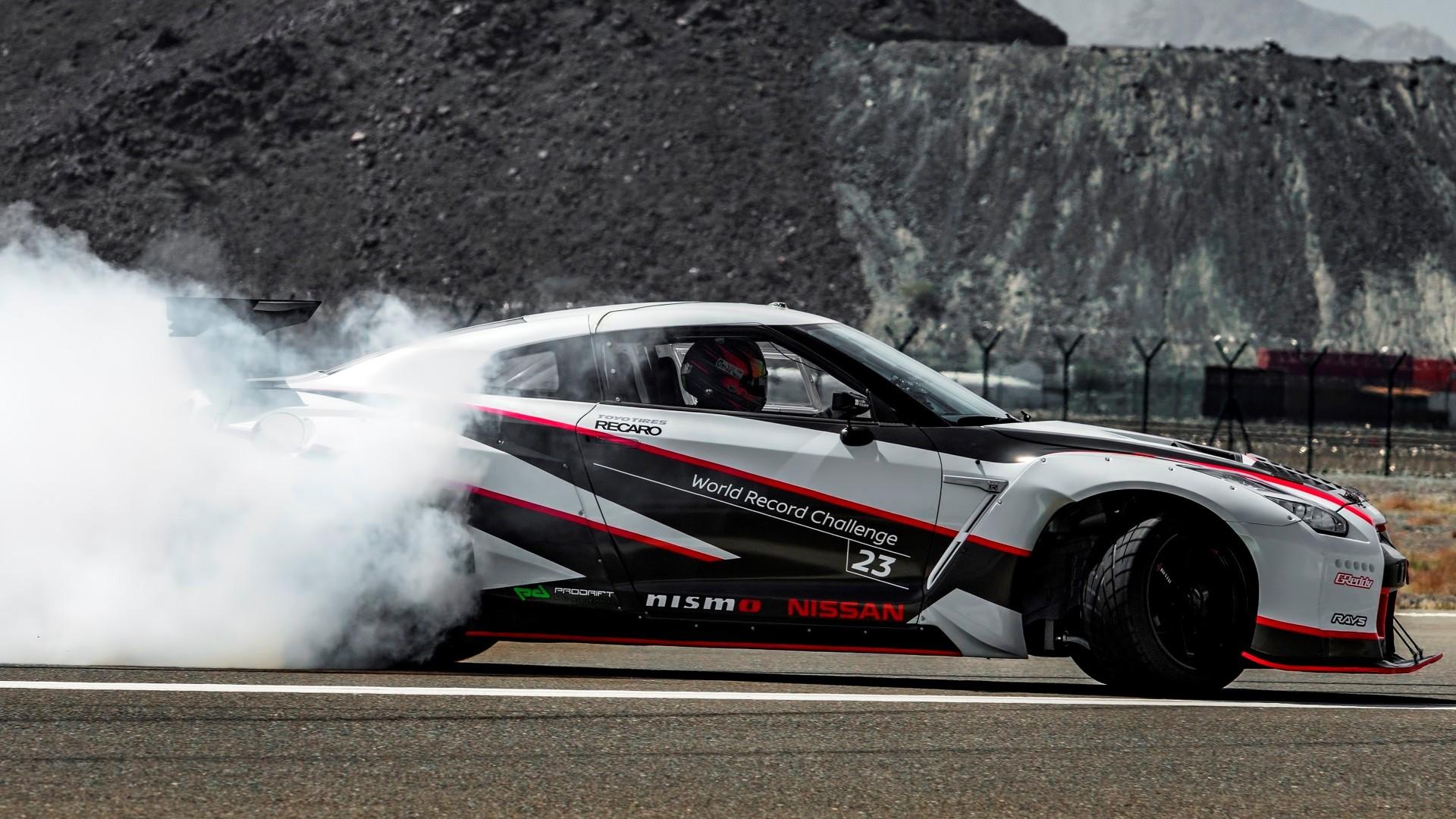 Record del mundo de velocidad haciendo drift